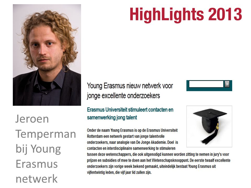 Jeroen Temperman bij Young Erasmus netwerk