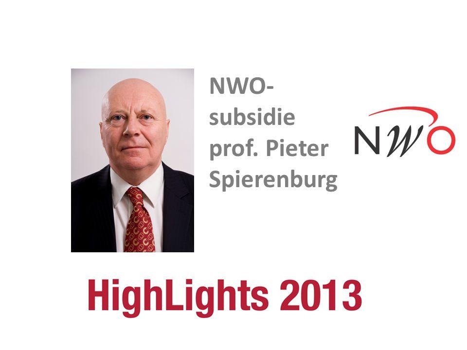 NWO- subsidie prof. Pieter Spierenburg