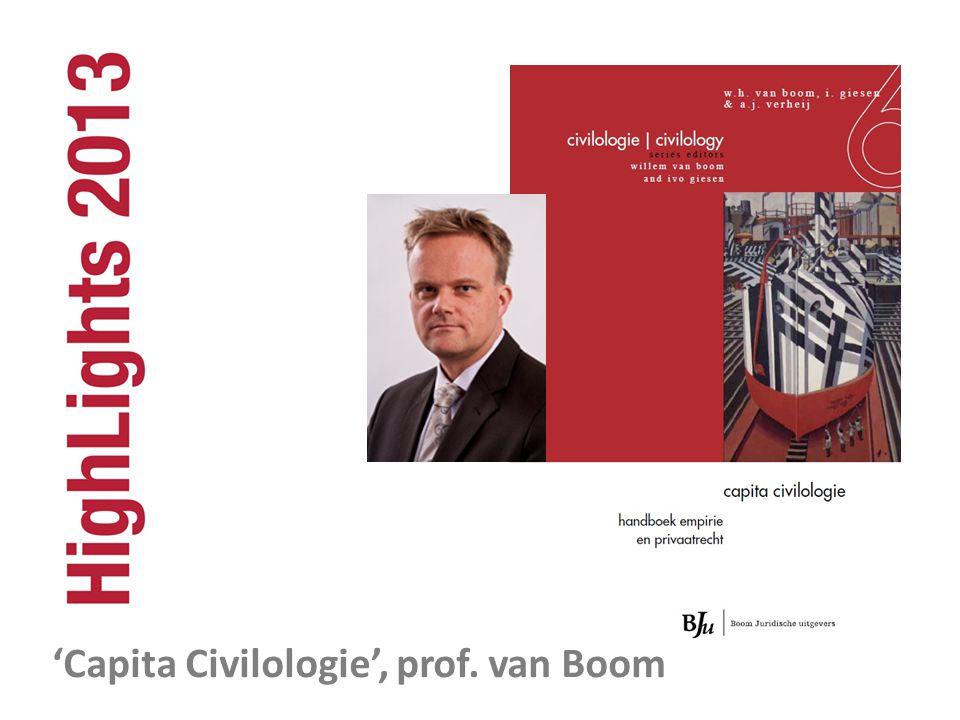 'Capita Civilologie', prof. van Boom