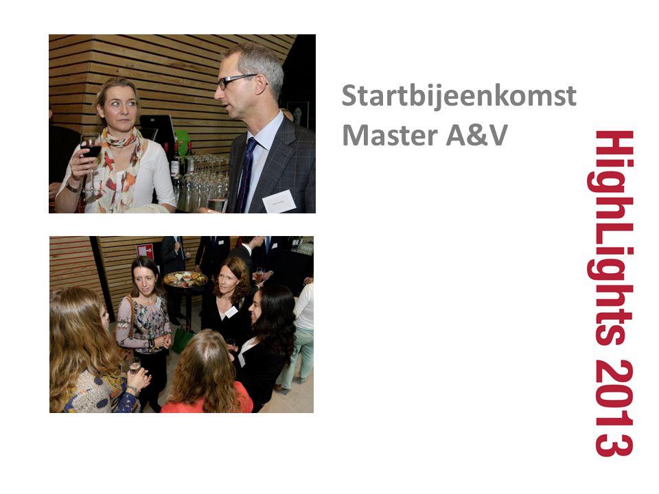 Startbijeenkomst Master A&V