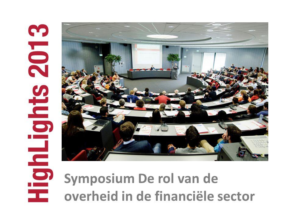 Symposium De rol van de overheid in de financiële sector