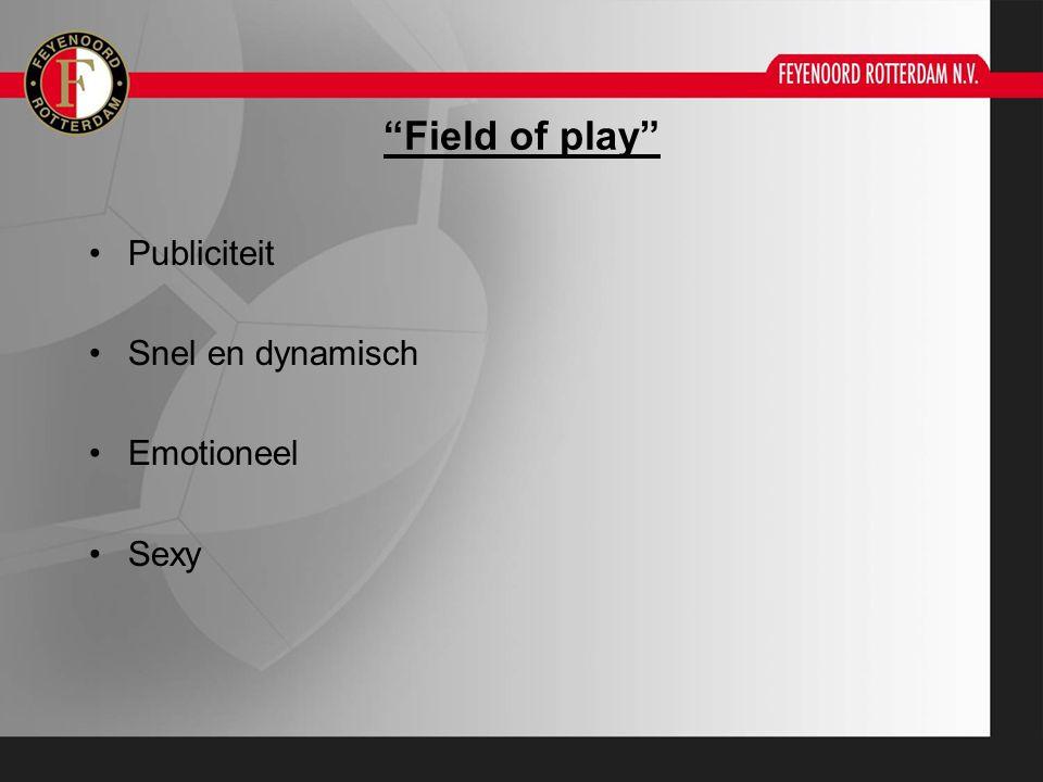 """Field of play"" Publiciteit Snel en dynamisch Emotioneel Sexy"