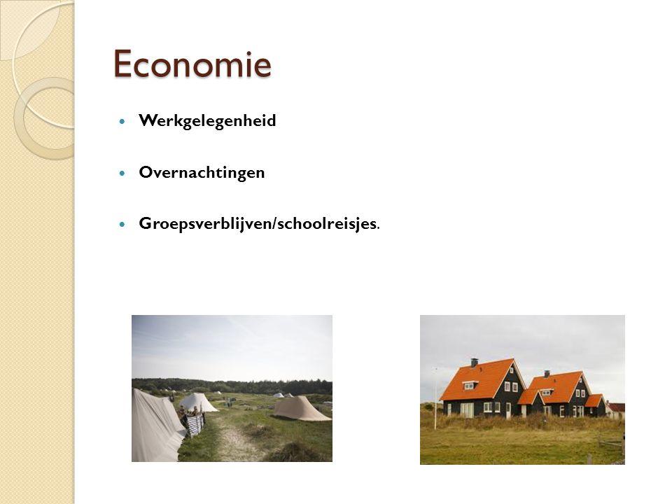 Economie Werkgelegenheid Overnachtingen Groepsverblijven/schoolreisjes.