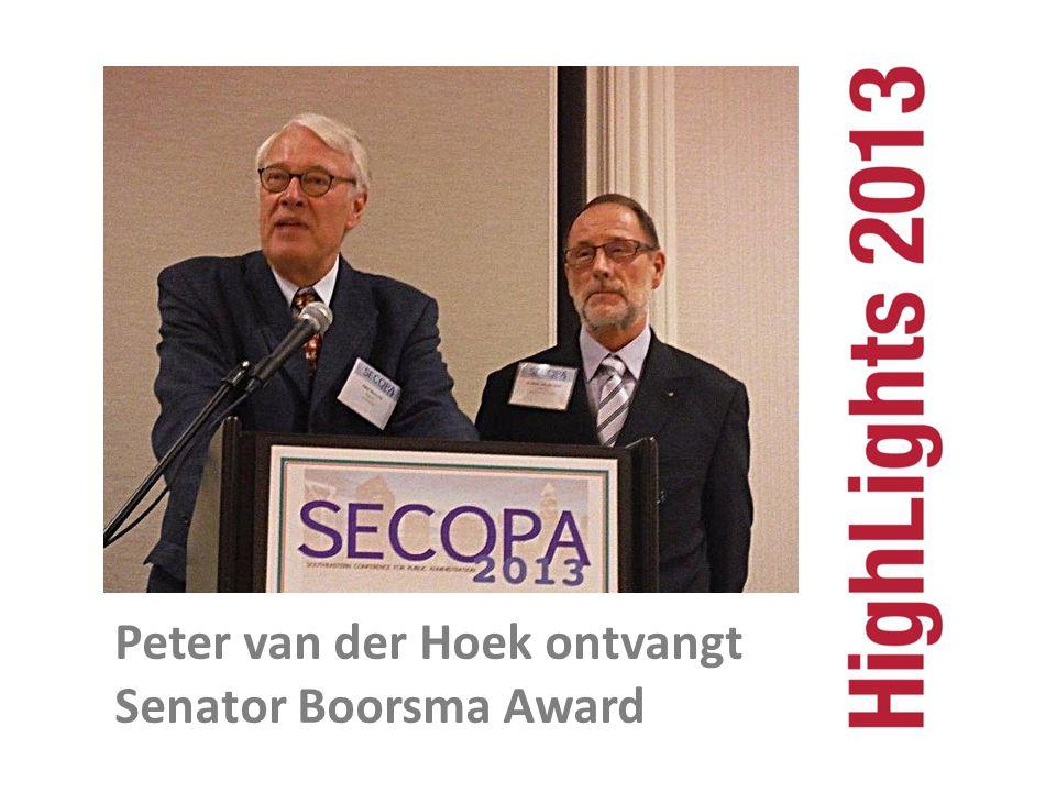 Peter van der Hoek ontvangt Senator Boorsma Award