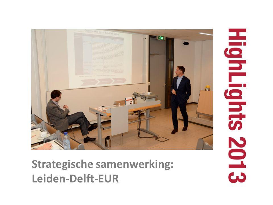 Strategische samenwerking: Leiden-Delft-EUR