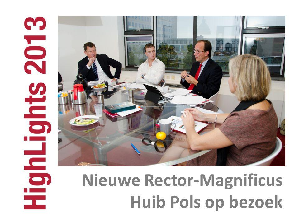 Nieuwe Rector-Magnificus Huib Pols op bezoek