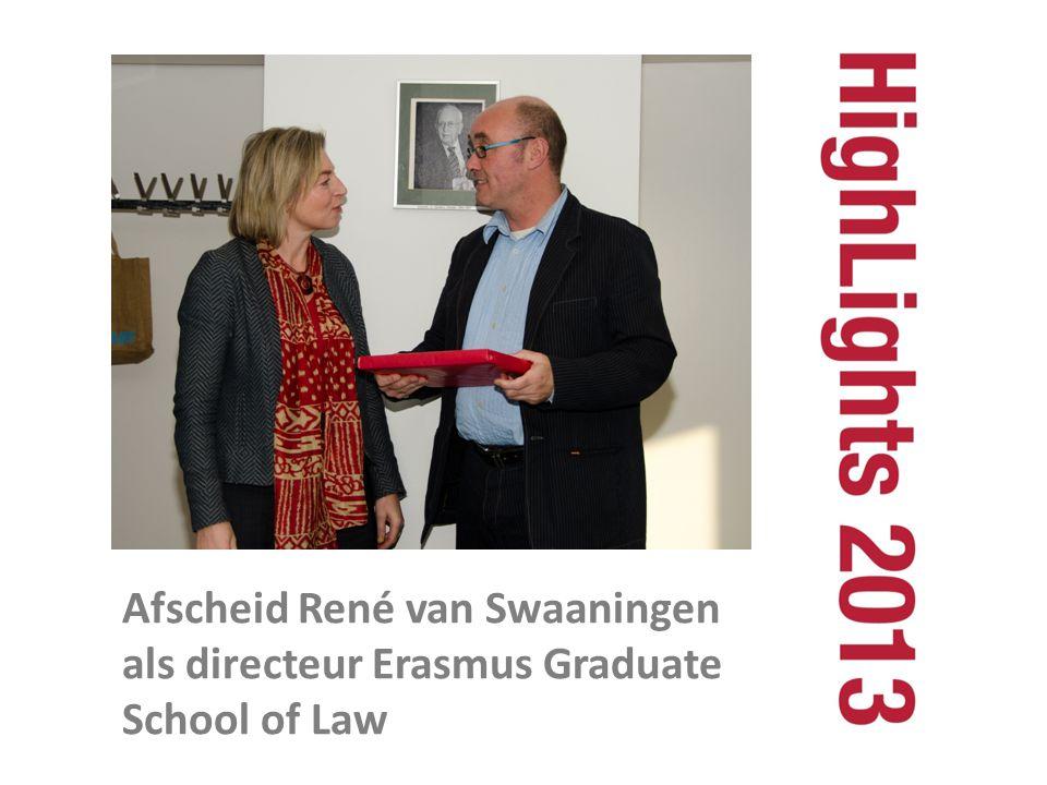 Afscheid René van Swaaningen als directeur Erasmus Graduate School of Law