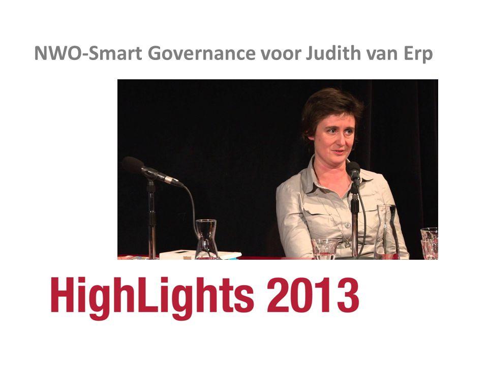 NWO-Smart Governance voor Judith van Erp