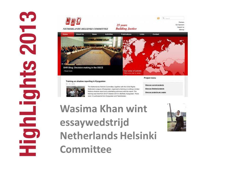 Wasima Khan wint essaywedstrijd Netherlands Helsinki Committee