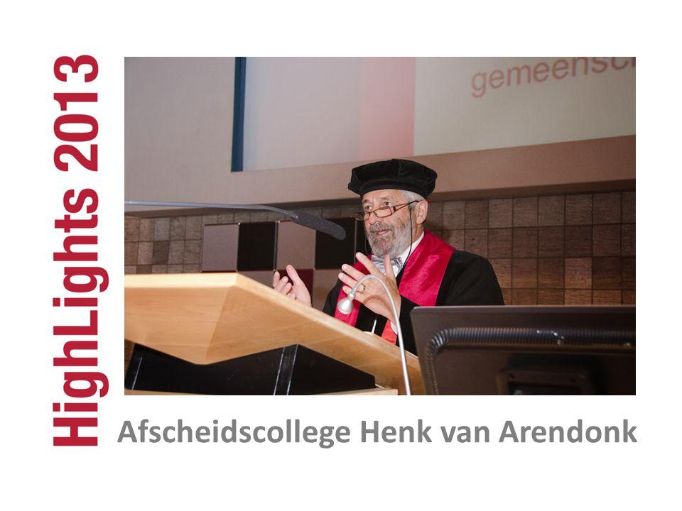 Afscheidscollege Henk van Arendonk