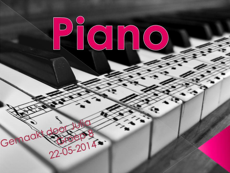  1.Geschiedenis  2. Hoe werkt een piano  3. Bekende merken  4.