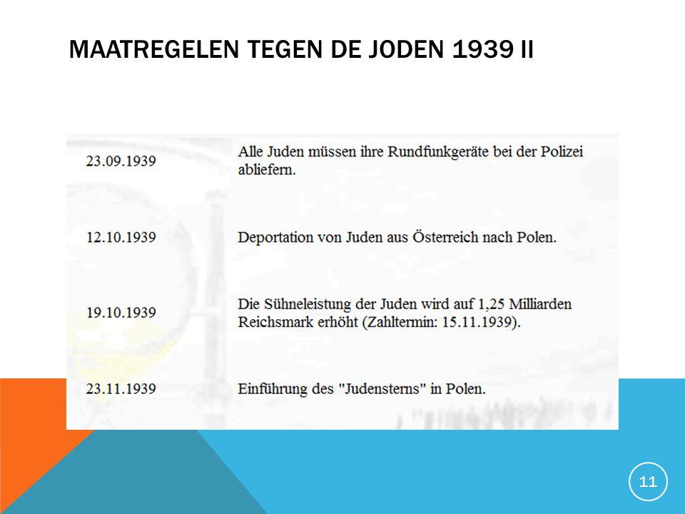 MAATREGELEN TEGEN DE JODEN 1939 II 11