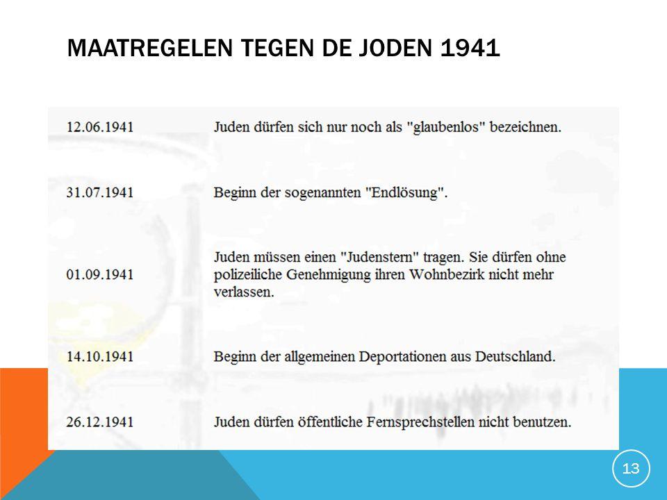 MAATREGELEN TEGEN DE JODEN 1941 13