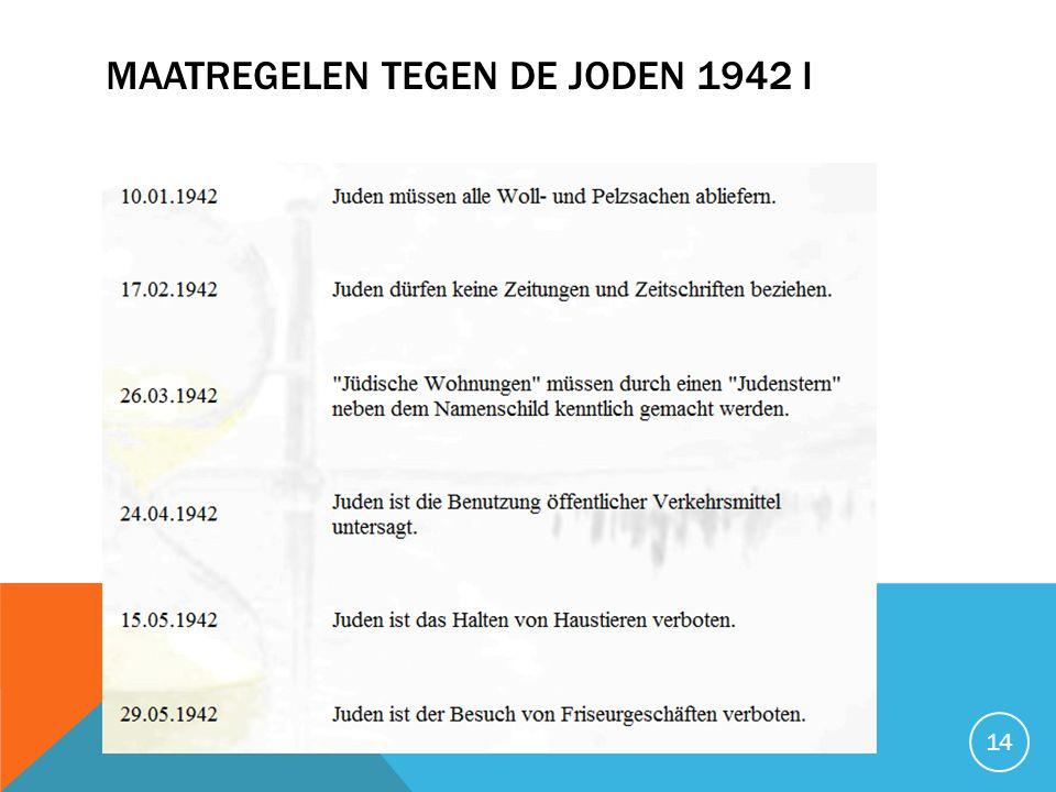 MAATREGELEN TEGEN DE JODEN 1942 I 14