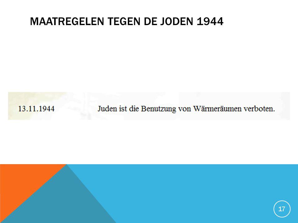 MAATREGELEN TEGEN DE JODEN 1944 17
