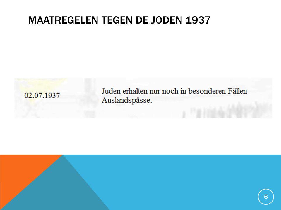 MAATREGELEN TEGEN DE JODEN 1938 I 7