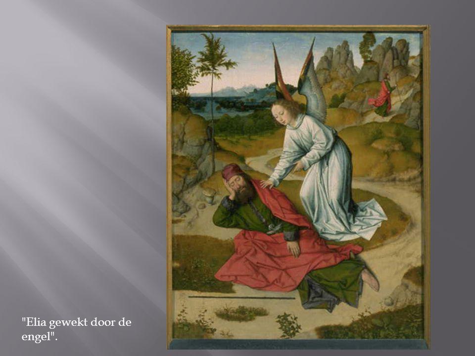 Elia gewekt door de engel .
