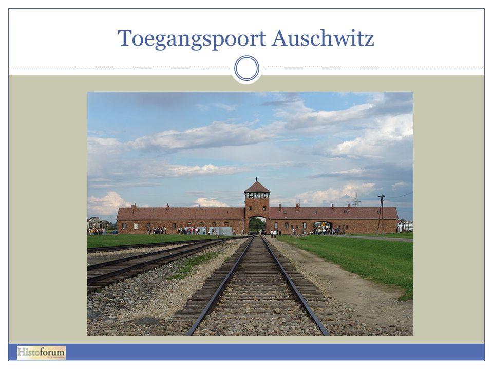 Toegangspoort Auschwitz