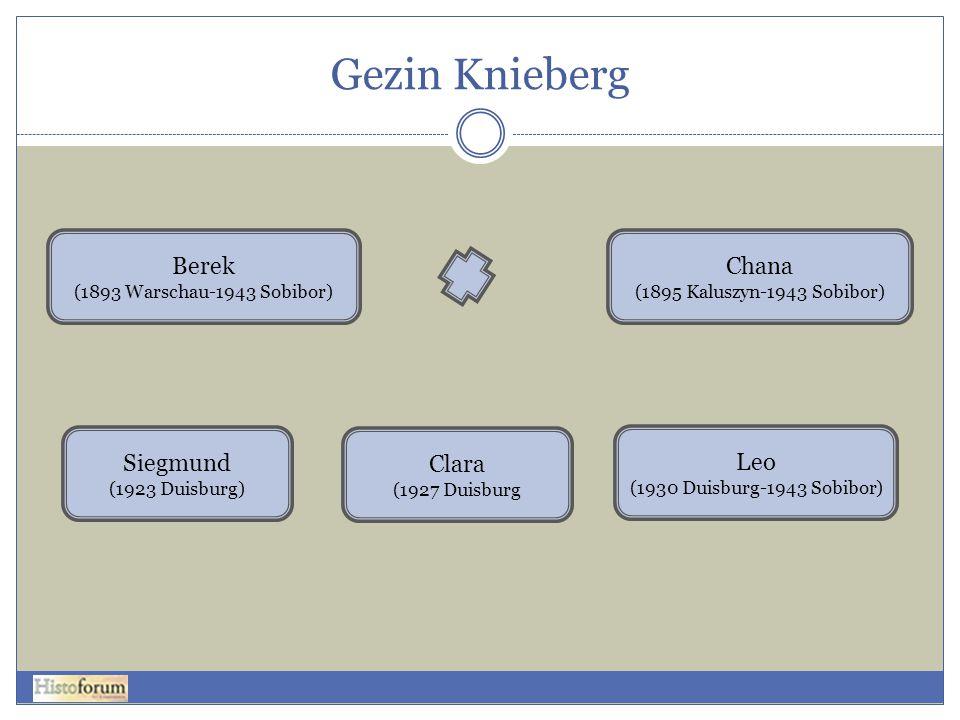 Gezin Knieberg Berek (1893 Warschau-1943 Sobibor) Siegmund (1923 Duisburg) Clara (1927 Duisburg Leo (1930 Duisburg-1943 Sobibor) Chana (1895 Kaluszyn-