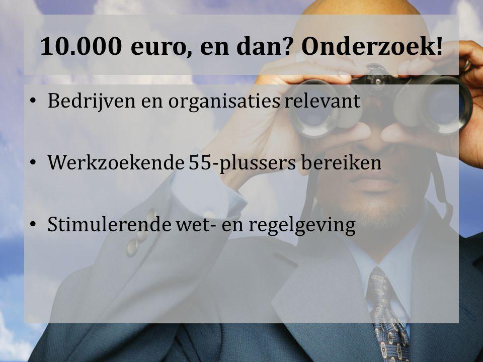 10.000 euro, en dan. Onderzoek.
