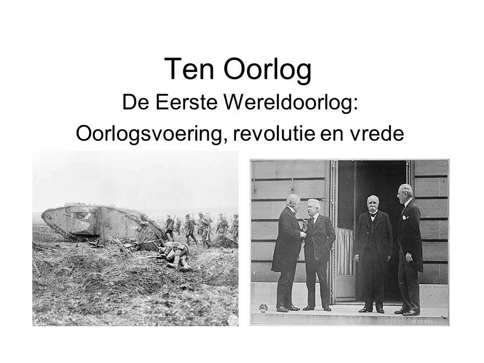 Het begin-1914 Aanvankelijk was er zeer veel enthousiasme voor de oorlog.