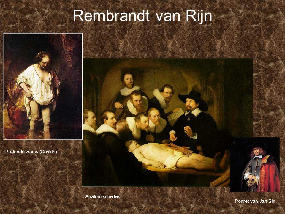 Rembrandt van Rijn Anatomische les Portret van Jan Six Badende vrouw (Saskia)
