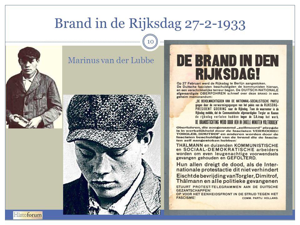 Brand in de Rijksdag 27-2-1933 10 Marinus van der Lubbe