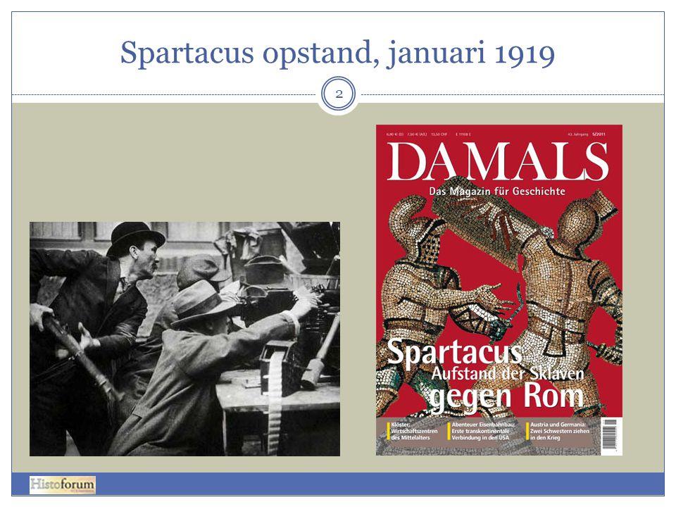 Spartacus opstand, januari 1919 2
