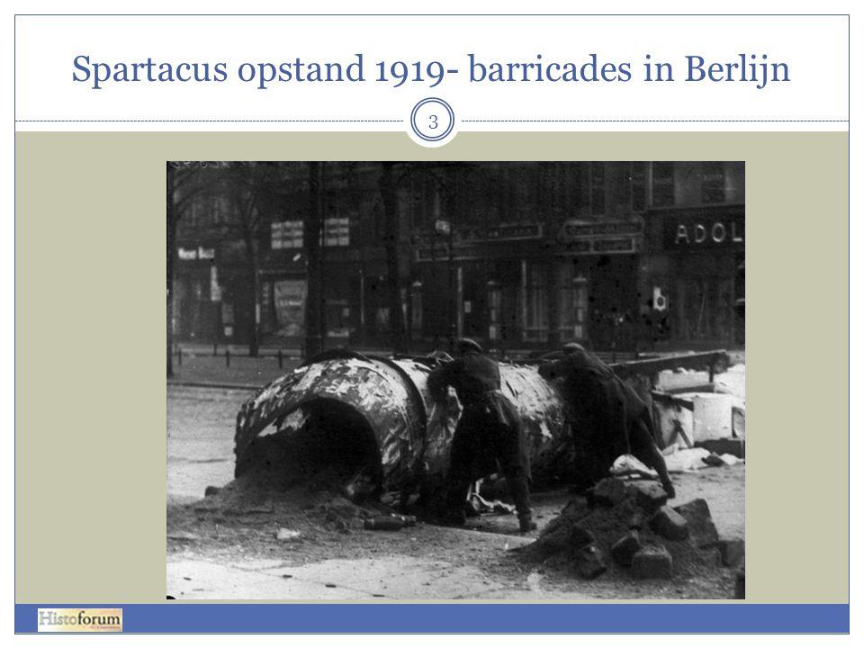 Spartacus opstand 1919- barricades in Berlijn 3
