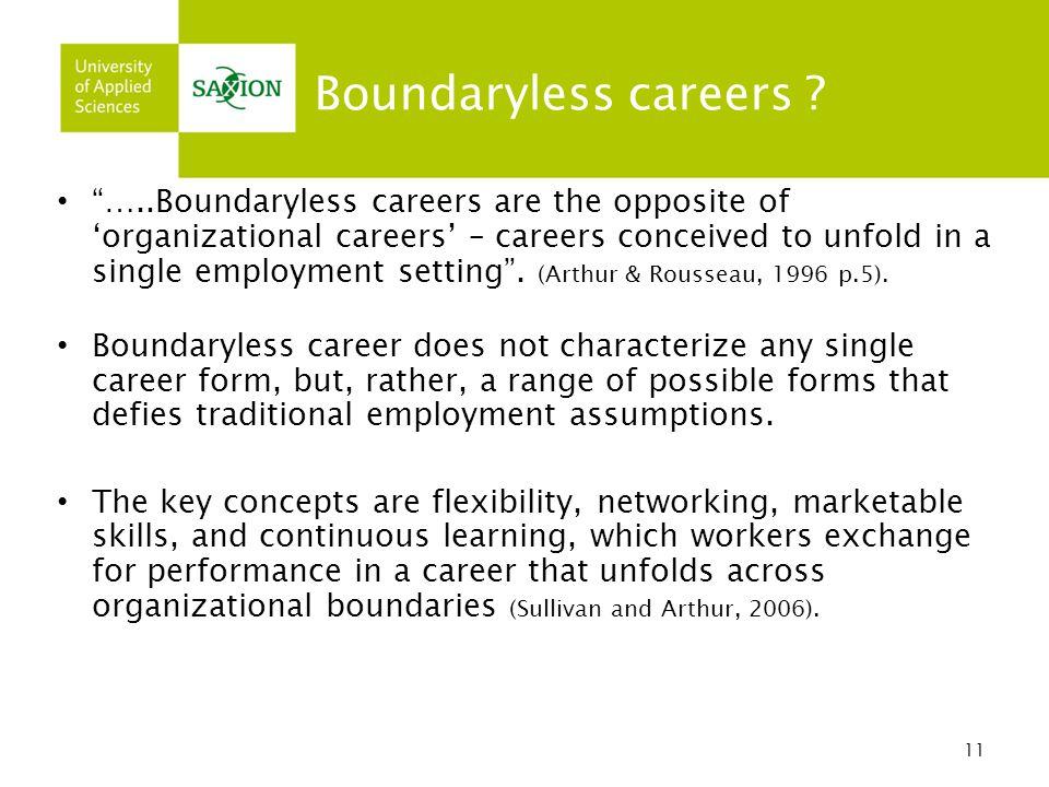 11 Boundaryless careers .