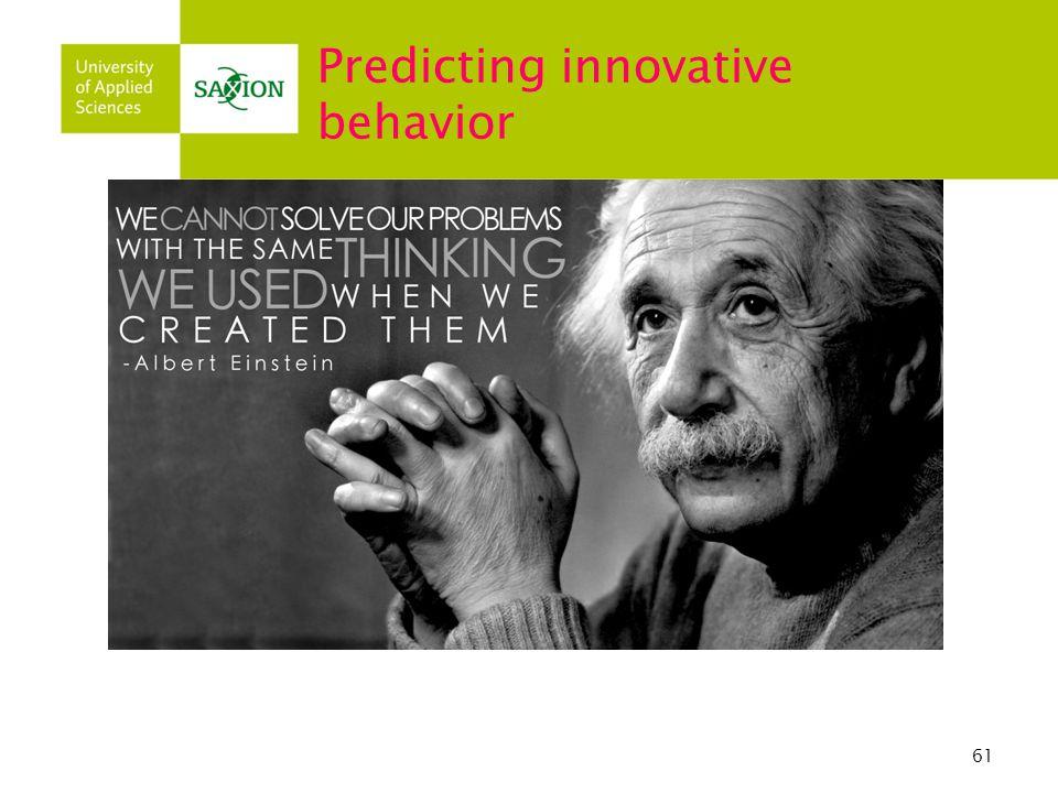 61 Predicting innovative behavior