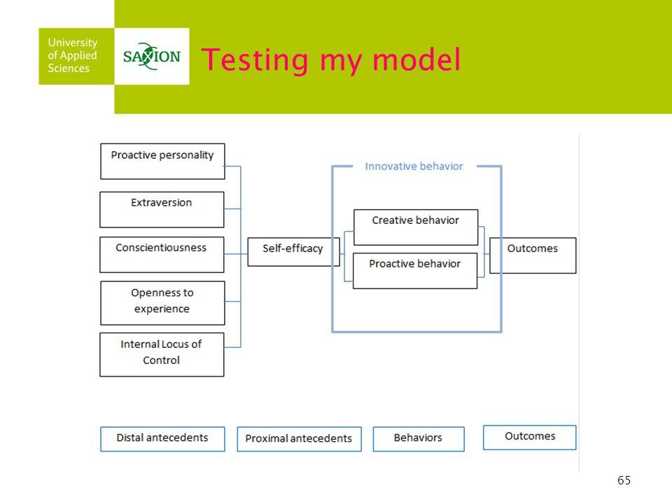 65 Testing my model