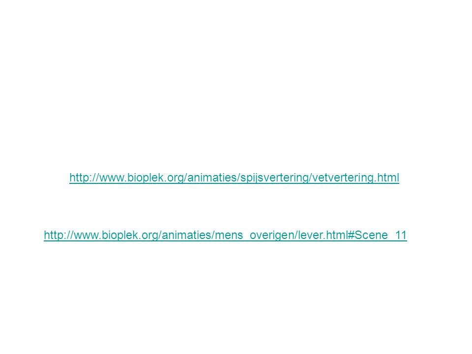 http://www.bioplek.org/animaties/spijsvertering/vetvertering.html http://www.bioplek.org/animaties/mens_overigen/lever.html#Scene_11