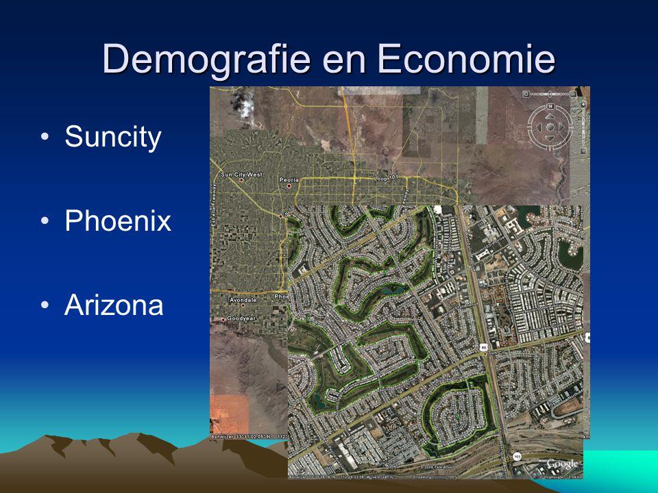Demografie en Economie Suncity Phoenix Arizona