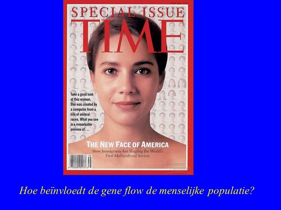 Hoe beïnvloedt de gene flow de menselijke populatie?