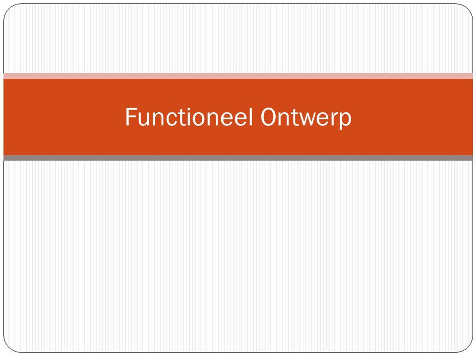 Waarom een functioneel ontwerp In de definitiestudie is bepaald wat de opdracht is en of het organisatorische consequenties heeft Het functioneel ontwerp beschrijft wat het systeem/website moet gaan doen.