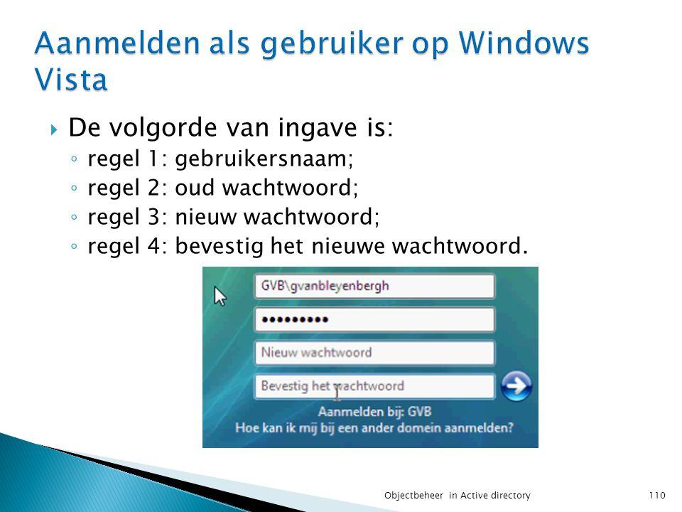  De volgorde van ingave is: ◦ regel 1: gebruikersnaam; ◦ regel 2: oud wachtwoord; ◦ regel 3: nieuw wachtwoord; ◦ regel 4: bevestig het nieuwe wachtwo