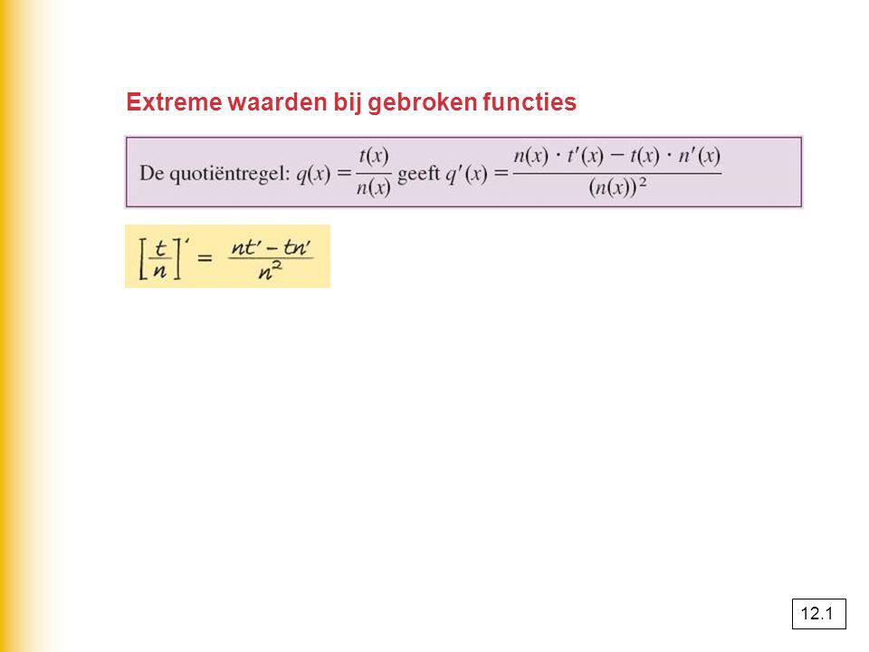 opgave 5 af(x) = geeft f'(x) = 0 geeft x 2 – 4x = 0 x(x – 4) = 0 x = 0 ⋁ x = 4 max.