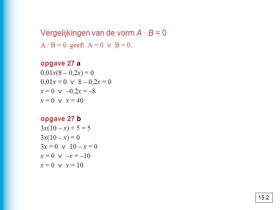 Wortelformules Uit volgt A = B 2.Je hebt links en rechts gekwadrateerd.