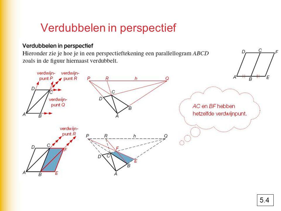 Verdubbelen in perspectief 5.4