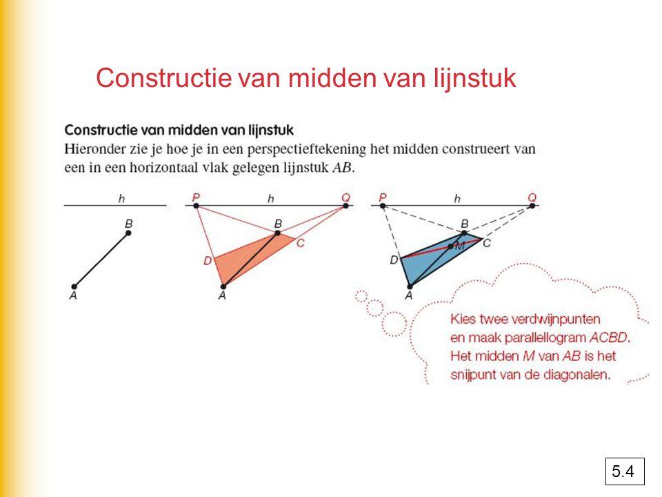 Constructie van midden van lijnstuk 5.4