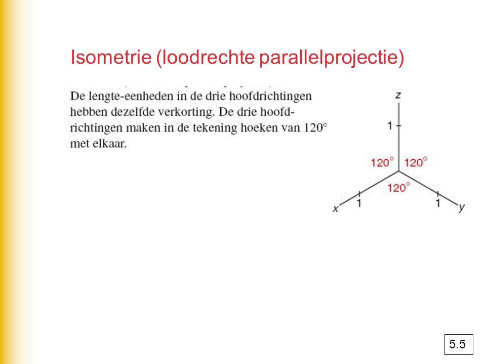 Isometrie (loodrechte parallelprojectie) 5.5