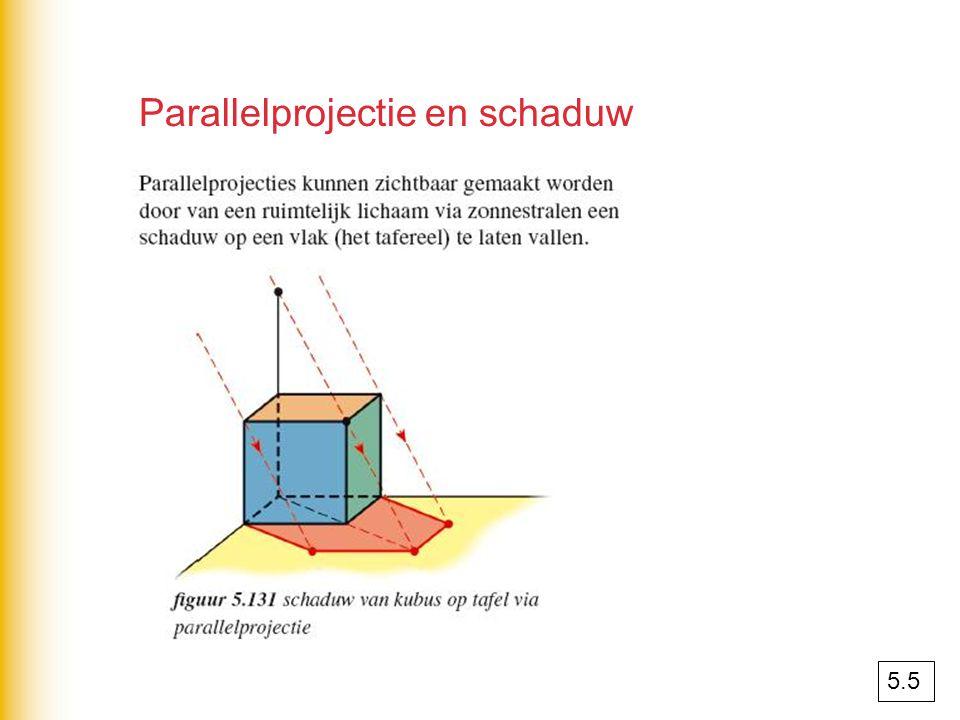 Parallelprojectie en schaduw 5.5