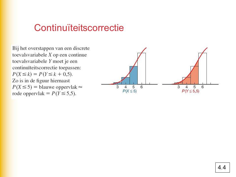 Continuïteitscorrectie 4.4