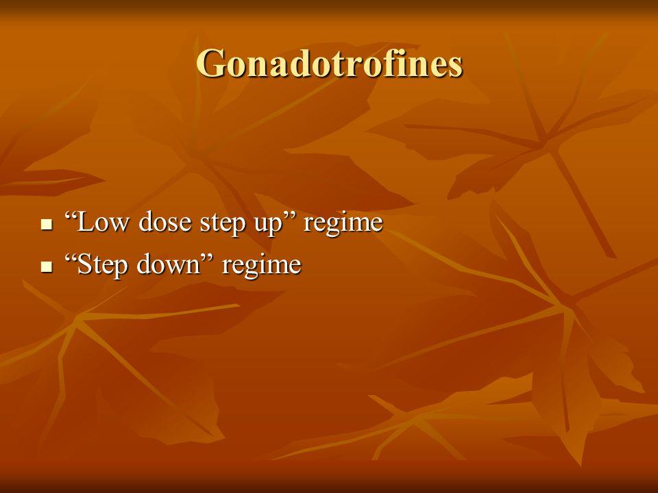 Gonadotrofines Low dose step up protocol → Zoeken naar de FSH-drempel waarde/ dosis die tot monofolliculaire ontwikkeling leidt.