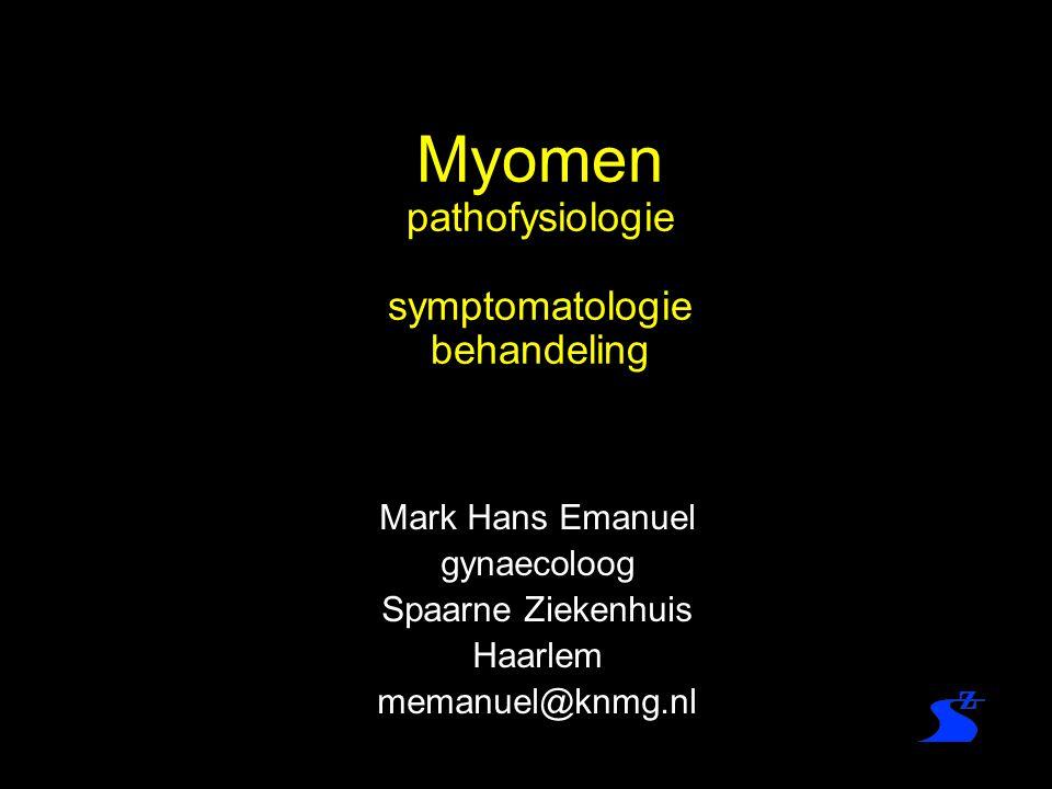 Myomen pathofysiologie symptomatologie behandeling Mark Hans Emanuel gynaecoloog Spaarne Ziekenhuis Haarlem memanuel@knmg.nl