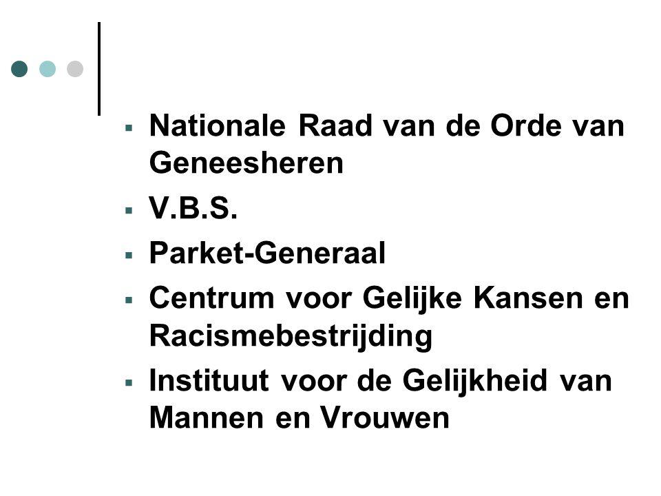  Nationale Raad van de Orde van Geneesheren  V.B.S.
