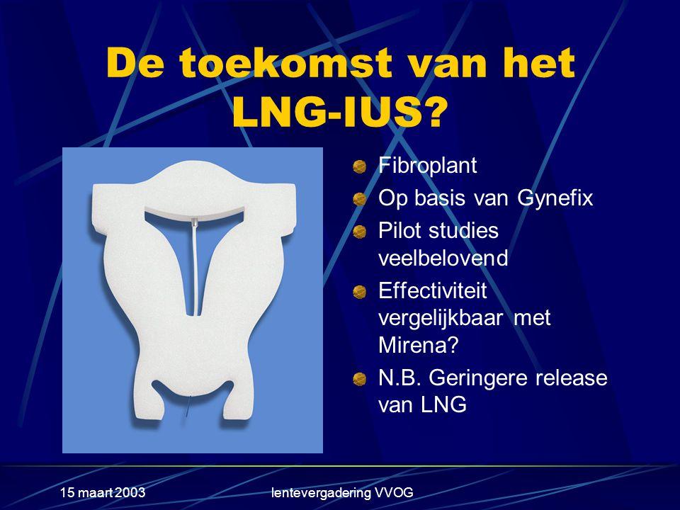 15 maart 2003lentevergadering VVOG De toekomst van het LNG-IUS.