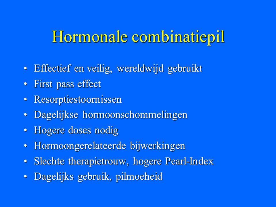 Hormonale combinatiepil Effectief en veilig, wereldwijd gebruiktEffectief en veilig, wereldwijd gebruikt First pass effectFirst pass effect Resorpties