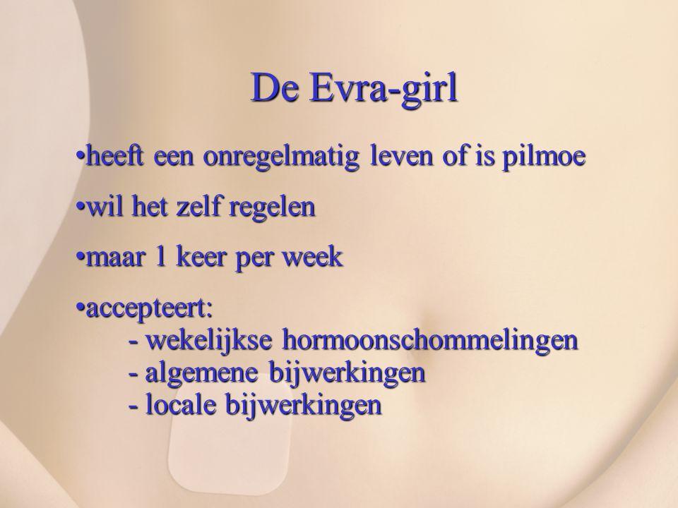 De Evra-girl heeft een onregelmatig leven of is pilmoeheeft een onregelmatig leven of is pilmoe wil het zelf regelenwil het zelf regelen maar 1 keer p